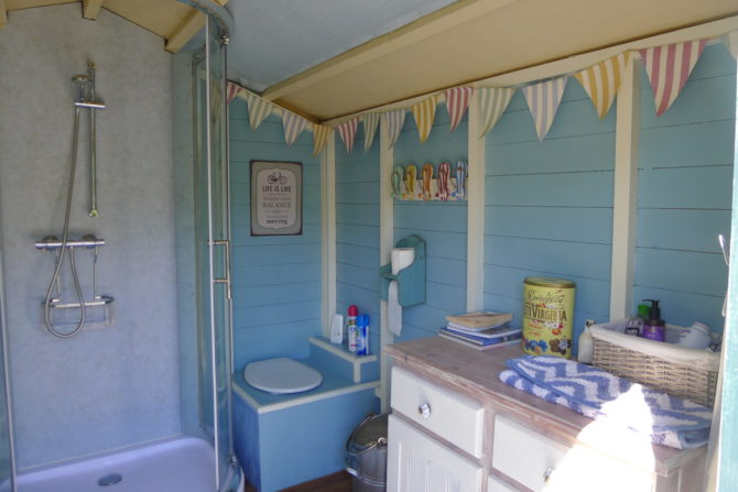 Bathroom Hut Shower and Toilet