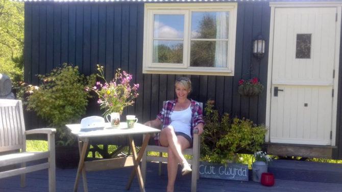 Lucie Parkes. Owner of Cwt Gwyrdd
